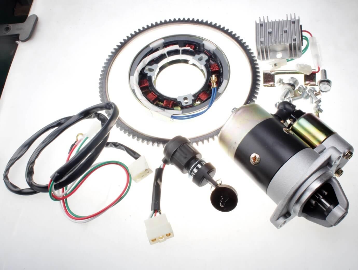 بخشی از اجزای تشکیلدهنده یک موتور برقی پرتابل